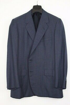 OXXFORD CLOTHES 'Aristocrat Cachet' Onwentsia Blue Wool Suit, 43 (AS-IS)
