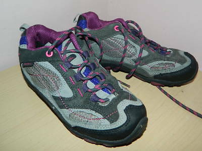 .kid's Peter Storm merthyr grey-purple lace up shoes trainers uk 1 eur 33 * VGC