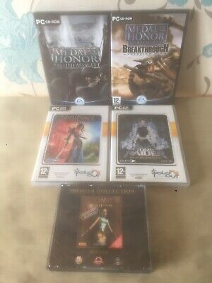 Bundle Pc Cd Rom Games Tomb Raider Medal Of Honor Spellforce X5 Games