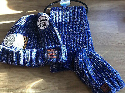 Next BNWT Blue Hat, Scalf and Gloves Set 3-6 Years