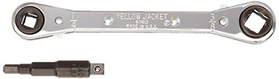 "Yellow Jacket, 60610, Hand Ratchet, 3/16"" to 3/8"" Dr, 5-1/2"" L"