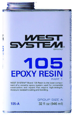 West System Clear Low Viscosity Epoxy Resin 105A Quart Part 1 Boat Marine