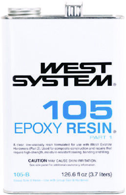 West System Clear Low Viscosity Epoxy Resin 105B Gallon Part 1 Boat Marine