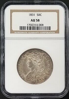1831 Capped Bust Half Dollar certified AU 58 by NGC!