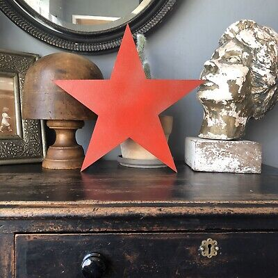 Star Rustic Red Metal Letter Home House Sign Shop Decor Decoration Bar Cafe Pub