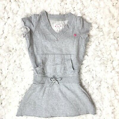 Gap Kids Toddler Girls Dress Top Cotton Gray XS 4-5
