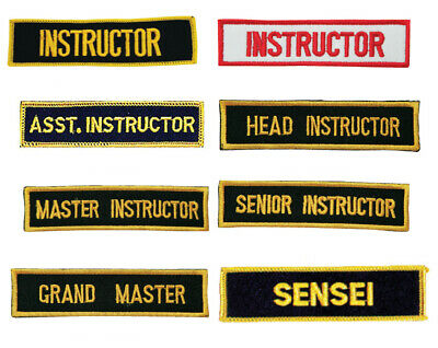 Master Instructor Patches 4 pcs Set Embroidery MMA Taekwondo Matial Arts Karate