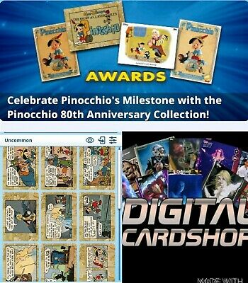 Topps Disney Collect PINOCCHIO 80th Anniversary - Comic Card Set of 16 Cards