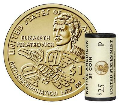 2020 P,D Native American Dollars Uncirculated From US Mint 2 Coins Peratrovich