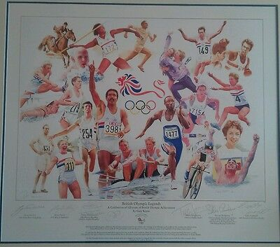 British  Olympic  legends signed print. NOW REDUCED.