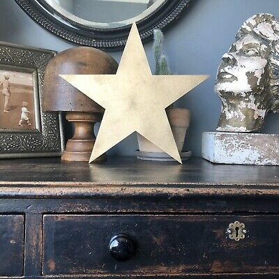 STAR RUSTIC GOLD METAL LETTER HOME HOUSE SIGN Barn Shabby Chic Cafe Restaurant