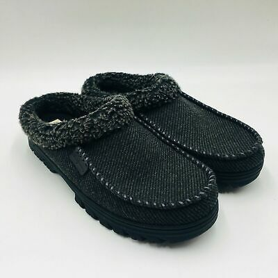 Dearfoams Men's Clog Slippers Memory Foam Black Different Sizes USED Save!