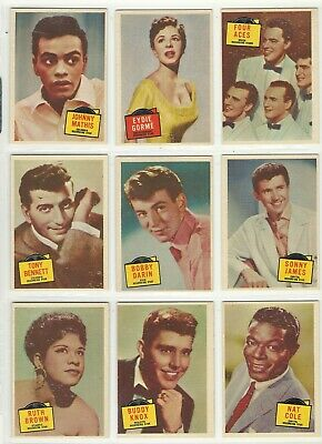 1957 Topps Hit Stars Lot of 44 Excellent Condition Elvis James Dean Liz Taylor