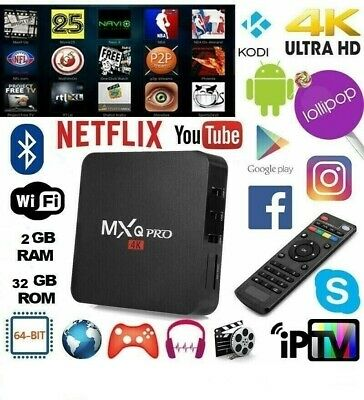 MXQ PRO 4K Smart BOX Android 8.1 OR 7 Penta Core 64bit WiFi 16GB + TASTIERA