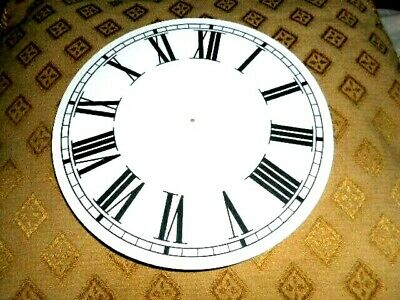 "Round Paper (Card) Clock Dial- 6"" M/T - Roman - MATT WHITE - Parts/Spares"
