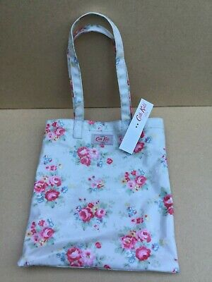 Cath Kidston Small Oil Cloth Book Bag. Pink Roses / Floral Design New with Tags.