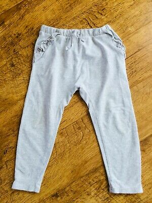 Girls Next Pale Grey Jersey Trousers Joggers 3-4 Years - Great Condition