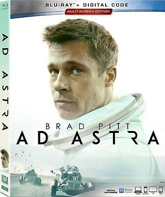 Ad Astra Blu-Ray + Slipcover Like-New No Digital Copy Brad Pitt Free Shipping