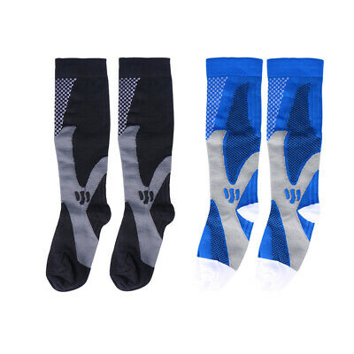 2 Pairs Stockings High Elastic Knee High Compression Socks Footwear for Exercise