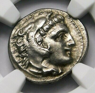 NGC Ch AU 4/5-3/5 Alexander the Great. Stunning Drachm. Greek Silver Coin.