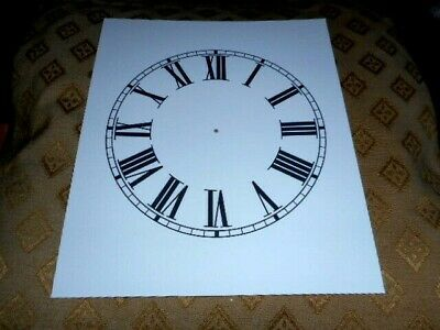 "For Column Clocks - Paper (card) Clock Dial - 7 1/2""- MATT WHITE - Parts/Spares"
