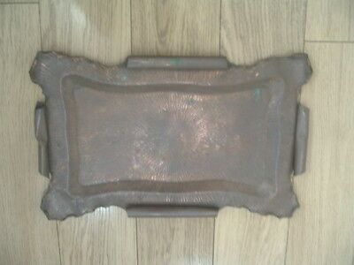 Arts and Crafts, art-decor,Hand Beaten Copper Tray, tea tray,drinks tray