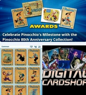 Topps Disney Collect PINOCCHIO 80th Anniversary - Character Set of 9 Cards