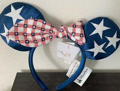 New Disney Parks Americana All American Girl Minnie Mouse Headband