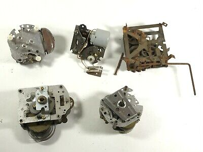 5 x ANTIQUE VINTAGE CLOCK MOVEMENT UNITS - PARTS / REPAIR JOB LOT <HM07 (T35) /7