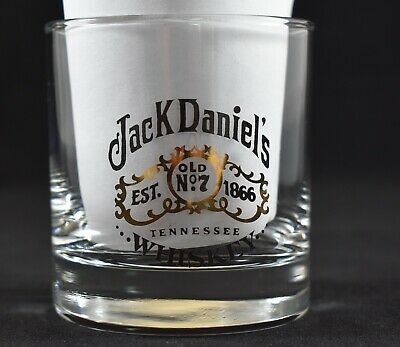 Collectable Round Jack Daniels Scotch Whiskey Glass Great Used Condition
