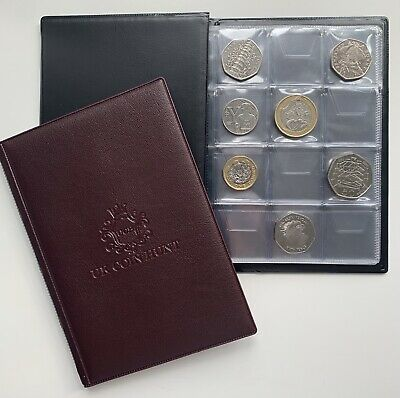 Collectors Storage Book Coin Album for 96 Coins 50p,old 50p,£2,£1 Folder
