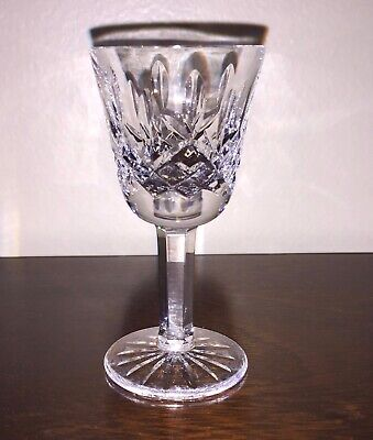 VTG Waterford Crystal LISMORE 3 1/2 Inch Liqueur Cordial Glass Made in IRELAND
