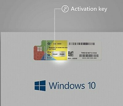 Windows 10 Home License Product Key 32/64bit REAL GENUINE KEY