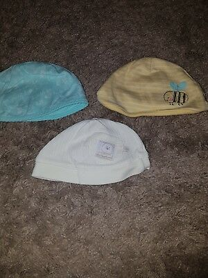 Baby Unisex 3 x Mixed branded hats.... 6-12/12-18 months....mothercare/F&F
