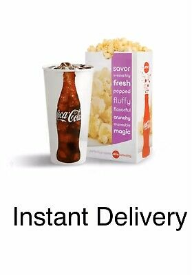 AMC Theaters 5 Large DRINKS, 5 Large POPCORNS ..........5 MIN eDELIVERY!