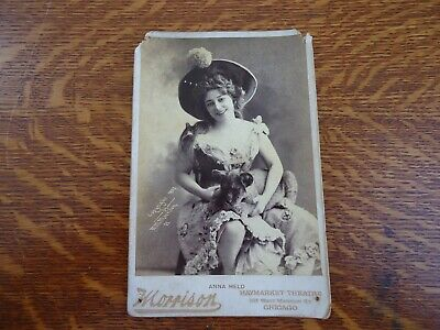 Antique Cabinet Card Photo - ANNA HELD - BROADWAY STAGE PERFORMER & SINGER