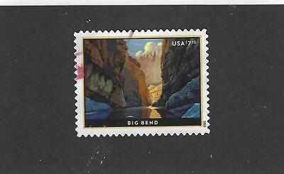 Us New 2020 $7.75 Big Bend Priority Mail Stamp Used Off Paper Sound