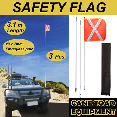 Recovery Sand Flag Safety Flag 3m  4WD Towing Offroad Touring, with quick connec