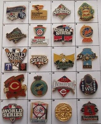 DIFFERENT TEAMS MLB BASEBALL WORLD SERIES or else PIN (YOUR CHOICE) # G845