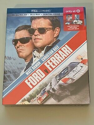 BRAND NEW! SEALED! Ford Vs Ferrari Target Exclusive 4K UHD+Blu-ray+Digital