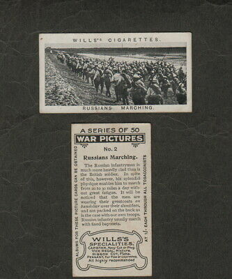s1458)  WW1 1915 WILLS WAR PICTURES CIGARETTE CARD RUSSIANS MARCHING #2