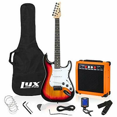 """LyxPro Full Size Electric Guitar with 20w Amp, Package Includes 39"""" Sunburst"""