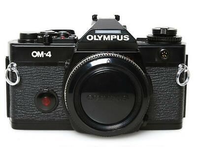 Olympus OM-4 35mm MF SLR Film Camera Black Body Only Excellent from Japan F/S