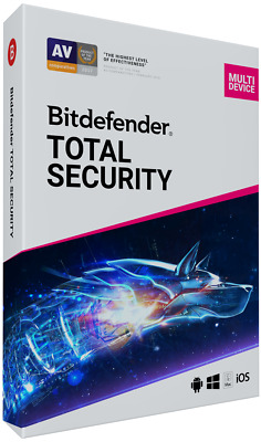 BitDefender TOTAL Security Multi device 2020 - 5 dispositivi | 3 anni + VPN