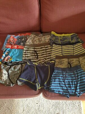 10 X Boys Boxer Shorts Ages 6-9 Years used but lots of life left