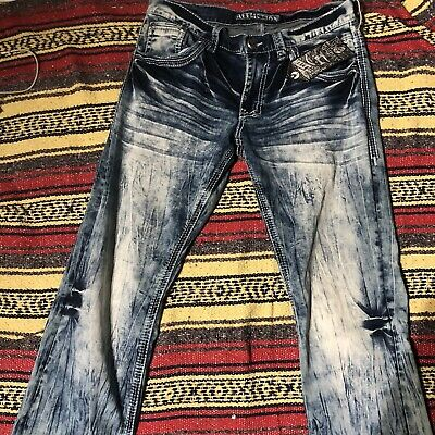 NEW Affliction ACE ASCENDED TACOMA Mens Rlxd Bootcut 110SS177 Size 31x33 NET$125