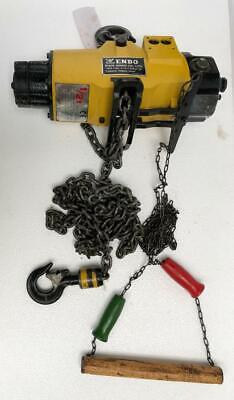 Endo Ehl-05Ts Pneumatic Air Chain Hoist 0.5 Tons/500 Kgs Capacity 11Ft.chain  Uu