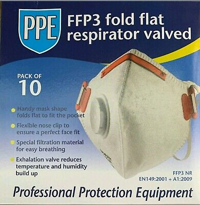 1 Mask x Coronavirus Flu Virus Face Mask (FFP3 / N95 Guidance) Valve Dust Mask