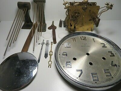 Antique German Mauthe Extra wall clock by F.M.S. for parts or repair