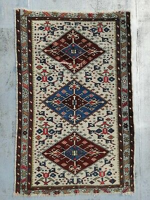 Antico Tappeto Caucasico in lana  Antique Caucasian rug in wool
